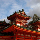 Picture - Detail of the roof, Heian-jingu Shrine, Kyoto.