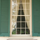 Picture - Window The Hermitage where President Andrew Jackson lived in Nashville.