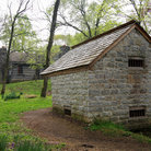 Picture - Stone pump house on Jackson Estate in Nashville, Tennessee.