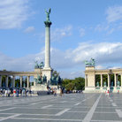 Picture - The Millennium Monument in Heroes' Square, Budapest.