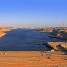 Picture - View over the High Dam as Aswan.