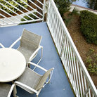 Picture - View of balcony and lush foliage at Hilton Head resort.