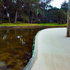 Picture - Sand dune and pond on Hilton Head golf course.