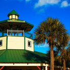 Picture - Southern style watch tower on Hilton Head Island.