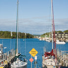 Picture - Sailboats at the Marina in Charlevoix, Michigan.