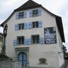 Picture - Historical Museum with colorful painted shutters near Weinmarkt in Lucerne.