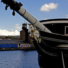 Picture - Detail of the HM Frigate Unicorn at Dundee.