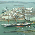 Picture - HMS Warrior, an ironclad steam ship built in 1860 at Portsmouth.