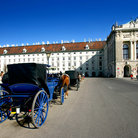 Picture - Horse drawn carriages in Heldenplatz in Hofburg.