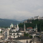 Picture - View of the hilltop Hohensalzburg Fortress.