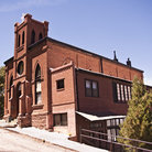Picture - The historic Holy Family Catholic Church in Jerome.