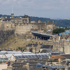 Picture - View of Edinburgh Castle from Holyrood Park.