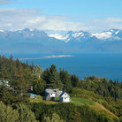 Picture - View on Homer Spit and Kachemak Bay.