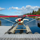 Picture - Float plane docked in Homer.