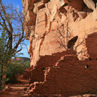 Picture - Walls of the Honanki Cliff Dwellings near Sedona.