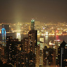 Picture - Overview of Hong Kong at night.
