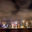 Picture - Fireworks at Chinese New Year in Hong Kong.