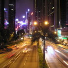 Picture - Hong Kong street at night.