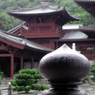 Picture - The Chi lin Nunnery, a Buddhist center in Hong Kong.