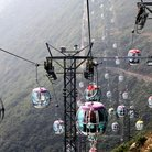 Picture - Cable cars in Hong Kong.