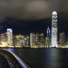Picture - Night view of the Hong Kong skyline.