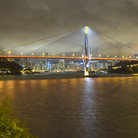 Picture - Tsing Ma Bridge in Hong Kong in the evening.