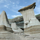 Picture - Hoodoos, rock formations near Drumheller.