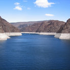 Picture - Barren Lake Mead seen from Hoover Dam.