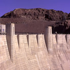 Picture - View along Hoover Dam.
