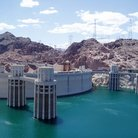 Picture - Water at the top of Hoover Dam.