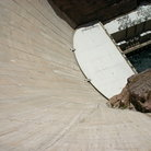 Picture - The steep wall of Hoover Dam.