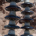 Picture - Electrical Insulators at Hoover Dam.
