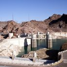 Picture - Overview of Hoover Dam.