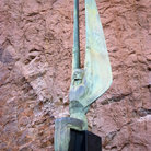 Picture - Stone angel at Hoover Dam marking the completion of the dam.