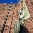 Picture - Statue at the Hoover Dam.