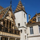 Picture - Tiled roof of the Hotel Dieu in Beaune.