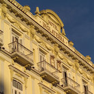 Picture - Balconies and roof line of the historical Hotel Inglaterra.