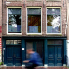 Picture - Exterior of Anne Frank's house in Amsterdam.