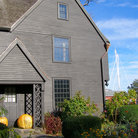 Picture - House of Seven Gables in Salem seen in the fall.