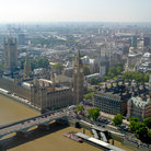 Picture - Parliament and Westminster seen from London Eye.