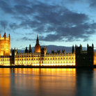 Picture - Parliament at sunset in London.