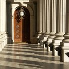 Picture - Hallway of the Parliament buildings in Melbourne.