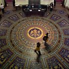 Picture - Floor view in the Parliament building in Melbourne.