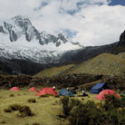 Picture - Camping in the Andes, Huaraz.