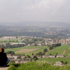 Picture - View over the town of Huddersfield.