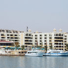 Picture - Hotels and boats at Hurghada.