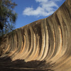 Picture - The wave rock at Hyden.