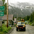 Picture - Street in Hyder, Alaska.