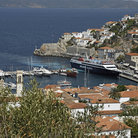 Picture - A ferry docked on the island of Hydra.