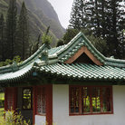 Picture - Pagoda in Iao Valley State Park in Maui, Hawaii.
